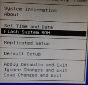 flash system rom