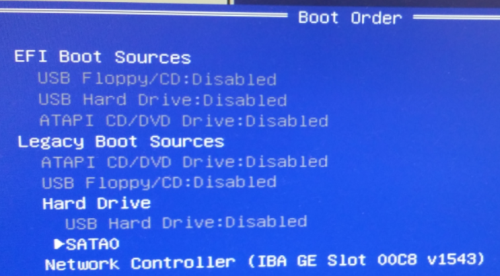 boot order