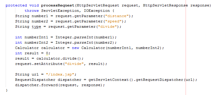 code servlet