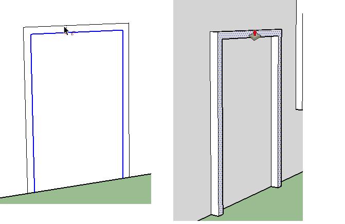 creating doorframe